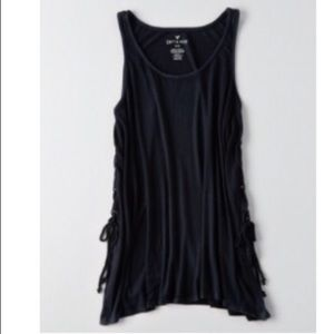 American Eagle soft and sexy ribbed tie  tank